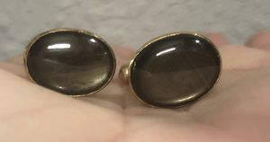 18k Gold Moonstone Cufflinks Beautiful 8.4 grams for Sale in Hillsboro Beach, FL