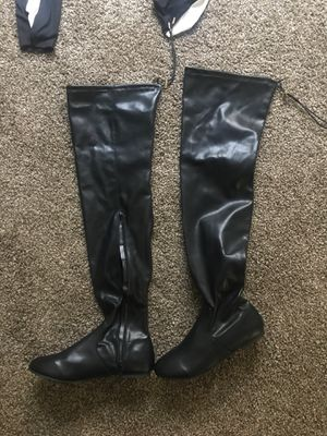 Over the Knee Black Boots Size 10 for Sale in Fresno, CA