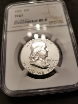 1961 FRANKLIN SILVER HALF DOLLAR IN PROOF67 for Sale in Casselberry,  FL
