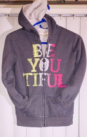FOLLOW ME FOR MANY UPCOMING CLOTHING POSTS!!! Mudd Grey Fully-Lined Zipper Hoodie Sweatshirt/Jacket Children's Size 10 for Sale in Henderson, NV