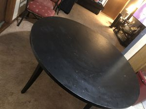 Black dining circle table and chairs for Sale in Tulsa, OK