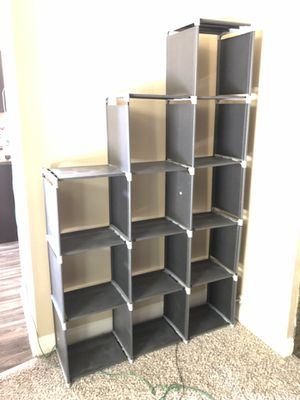 SONGMICS 3-tier Storage Cube Closet Organizer Shelf 6-cube Cabinet Bookcase Black ULSN63H for Sale in Las Vegas, NV