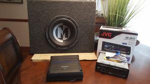 "Car Audio Memphis 10"" Sub JVC Radio and Amp for Sale in Cordova, TN"