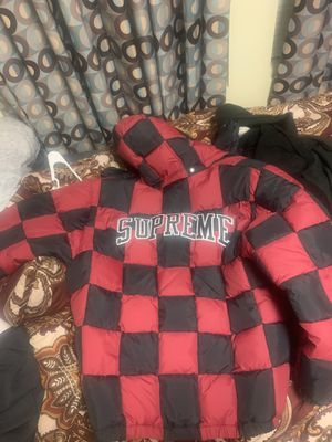 Supreme checkerboard jacket never worn for Sale in Fort Bragg, NC