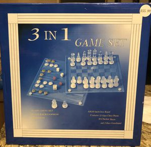 Glass chess set for Sale in Las Vegas, NV