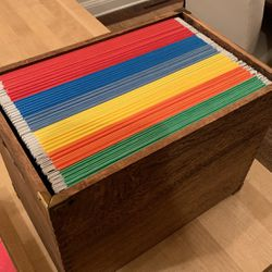 Wood File Box And Files for Sale in Wenatchee,  WA