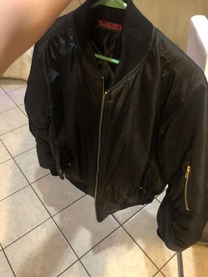 Black bomber jacket M for Sale in River Forest, IL