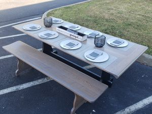 Brand new custom built Dining table and benches for Sale in Lorton, VA