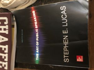 Art of public speaking college book for Sale in Fontana, CA