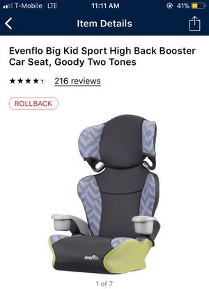 Evenflo booster seats $15 each !!!!!! for Sale in Las Vegas, NV