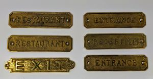 6 Antique Brass Name Plates for Sale in Lexington, KY