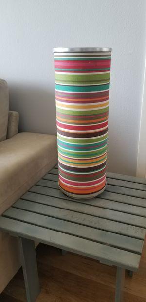 Lamp, fun multicolor striped shade for Sale in Marina del Rey, CA