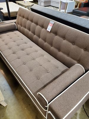 NEW IN THE BOX. SPL SOFA BED / FUTON WITH PILLOWS, BROWN, SKU# TC7567-BR for Sale in Garden Grove, CA