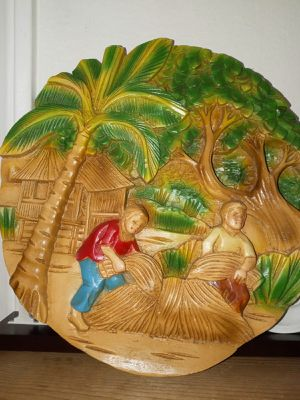 tropical decoration relief on wood for Sale in Montclair, CA
