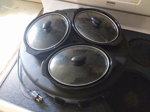 Triple crock pot. for Sale in Eustis, FL