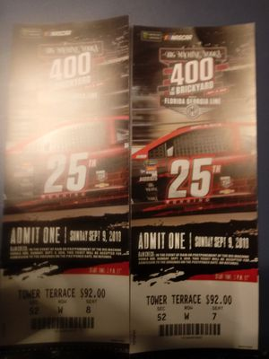 Two tickets to the brickyard 400 this Sunday for Sale in Ashley, OH