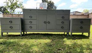 Credenza/contemporary dresser set. Stone gray for Sale in Costa Mesa, CA