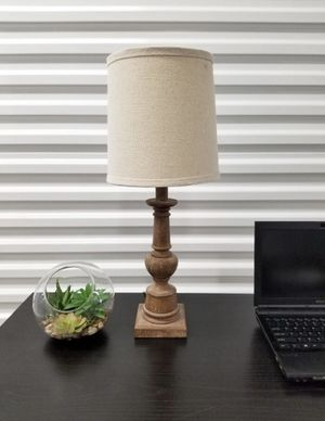 Driftwood Table lamp with Linen Shade for Sale in Fort Lauderdale, FL