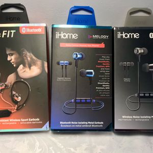 New iHome Wireless Bluetooth Rechargeable Earbuds for Sale in Meriden, CT