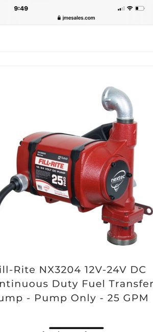 Fill rite fuel transfer pump for Sale in Mentor, OH