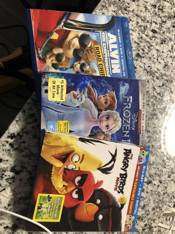 3 DVD and blue rays movies