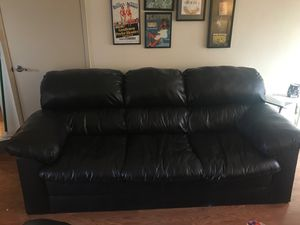 3 Cushion Black Couch for Sale in Mesa, AZ