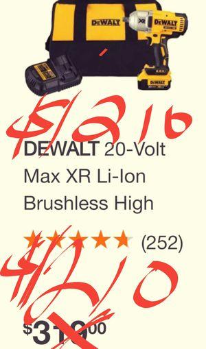 $220, NEW / UNUSE / SEALED BOX DEWALT XR BRUSHLESS 1/2 IMPACT WRENCH COMB0 KIT. INCLUDES BATT./ADAPT/ DEWALT TOOL BAG. for Sale in San Diego, CA
