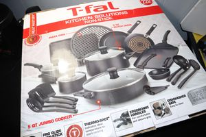 T-fal 22-Piece Kitchen Solutions Cookware Set for Sale in Riverdale, GA