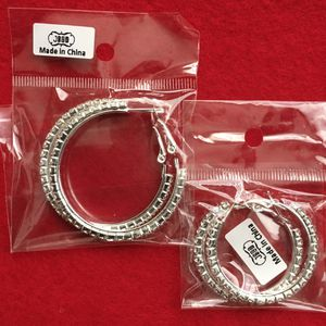 *NIP* Rhinestone Hoop Earrings x 2 Pairs - $8 (Beaverton OR) for Sale in Beaverton, OR