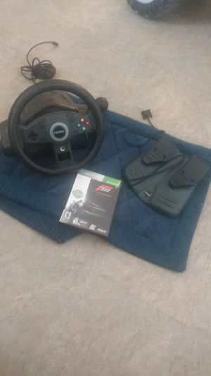 Xbox 360 pedal an wheel with farza game for Sale in San Diego, CA
