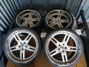 20' 3pc Auto Couture Staggered rim and tire set for Sale in St. Louis, MO