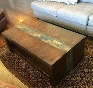 Wood stone coffee table for Sale in Nashville, TN