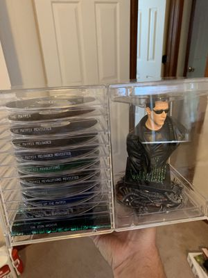 Matrix collectible DVD's and statue. Excellent condition. for Sale in Virginia Beach, VA