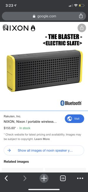 NIXON Portable Wireless Bluetooth Speaker for Sale in West Windsor Township, NJ