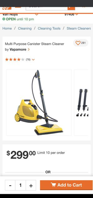 Multi Purpose Canister Steam Cleaner by  Vapamore for Sale in Los Angeles, CA