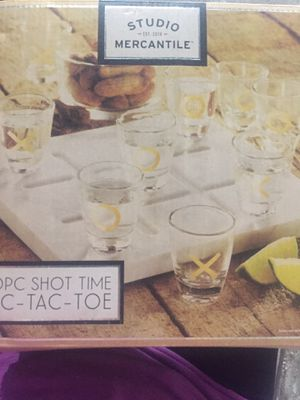 Tic tac toe shot game marble board for Sale in Brooklyn, NY
