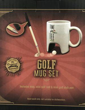 The Original Fun Workshop Mug Set Golf Time For Tea Golf Club Pen Desktop NEW for Sale in French Creek, WV