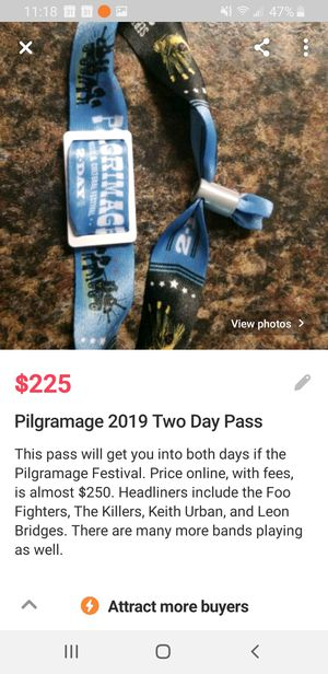Pilgramage 2 Day Pass for Sale in Nashville, TN