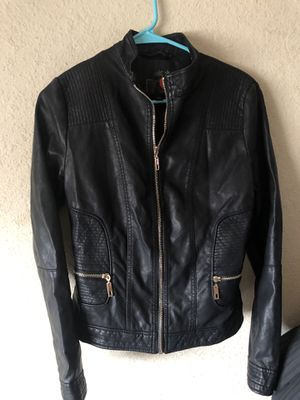 Guess black leather jacket for Sale in San Diego, CA