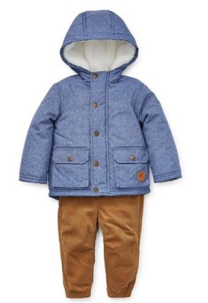 Little Me Chambray Jacket & Pants Set Toddler Boy 12 Months for Sale in Glen Ellyn, IL