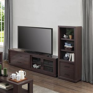 """New Steele TV Stand for TV's up to 80"""" and Tower shelf , Espresso Finish for Sale in Hilliard, OH"""