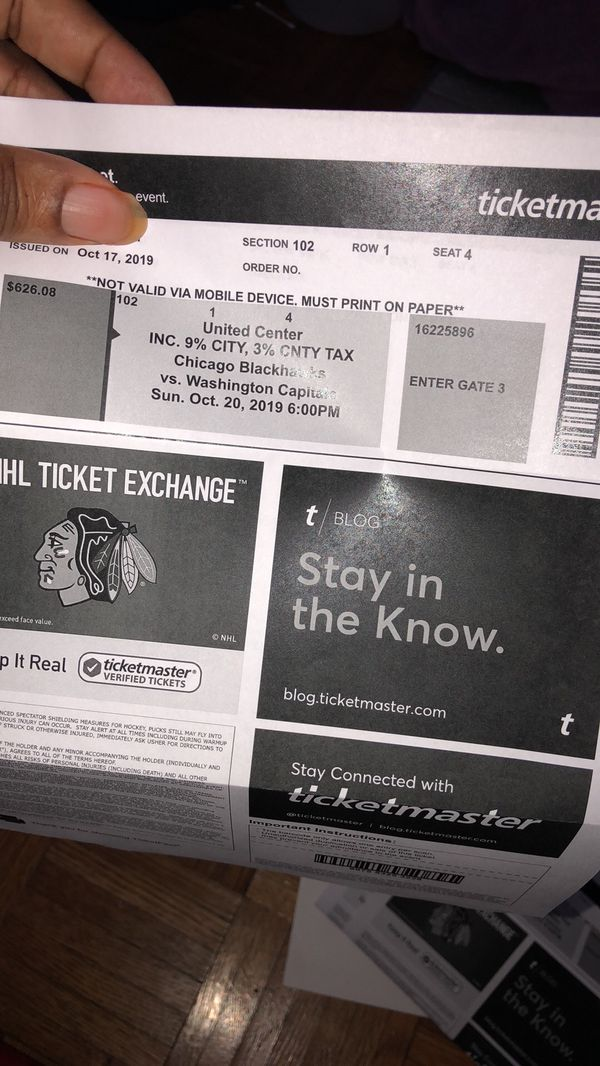 Blackhawk tickets