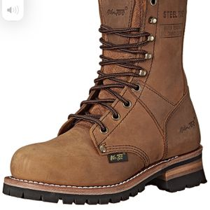 "Adtec Women's Work Boots 9"" Steel Toe Logger, Brown, 7 M US for Sale in North Las Vegas, NV"