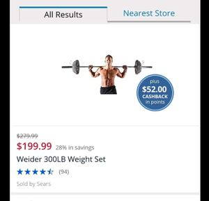 Weight set $100 for Sale in Minooka, IL