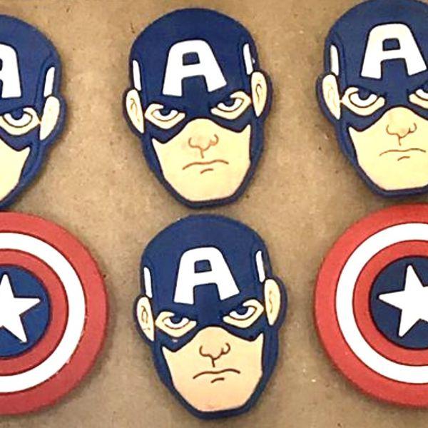 Captain America Marvel Superhero Magnet Set