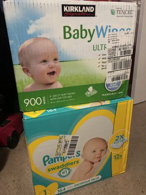 Pamper size 1 and baby wipes for Sale in Avondale, AZ