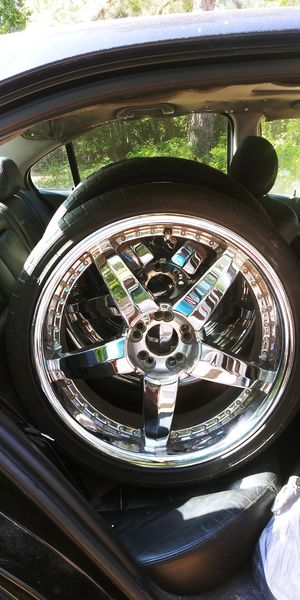 5lug universals chrome rims fits gm acura ford... for Sale in Longs, SC
