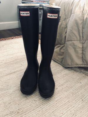 Hunter Women's Original Tall Rain Boots: Black sz 9 for Sale in Santa Monica, CA