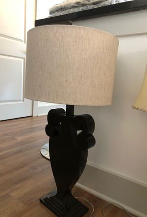 Artistic lamp! Black base with grayish lamp shade and bulb. Very chic! for Sale in Nashville, TN