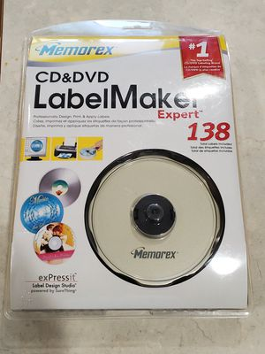 New Memorex CD & DVD Label Maker Expert 138 Labels & Software for Sale in Lynnwood, WA